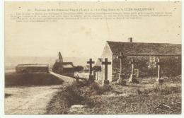 Carte Sépia  EURE ET LOIR  86. Environs De Berchères.sur.Vesgre  (E.et.L.) .Les  Cinq Croix De St OUEN.MARCHEFROY - Other Municipalities