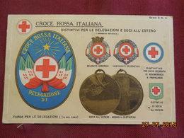 CPA - Croix-Rouge Italienne - Distintivi Per Le Delegazioni E Soci All'estro - Croix-Rouge