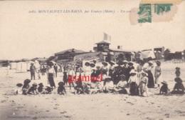33 - Montalivet Les Bains Par Vendays - (Médoc). Cpa Très Animé  1916 - France