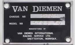 Van Diemen, Chassis Automobile Snetterton, Norfolk. - Automobile - F1