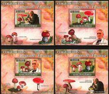 Saint Thomas  2007 Sir Alexandre FLEMING Mushrooms Champignons BF Luxe Gommé Perf  MNH - Prix Nobel