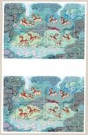 1998 Löwen Aus Sagen, 2 Sheets Se Tenant Pair, Uncut From Printers Archiv, Never Hinged - 1945-... República De China