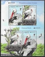 BELARUS, 2019,MNH,EUROPA, BIRDS, STORKS,SHEETLET OF 2 Sets - 2019