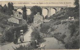 22 ST BRIEUC VIADUC CHEMIN DE FER 137 LAVANDIERES - Saint-Brieuc
