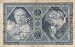 20 Mark Reichsbanknote VF/F (III) - [ 2] 1871-1918 : Duitse Rijk