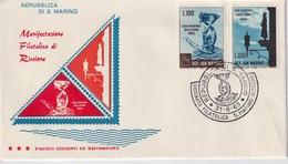 SAN MARINO SAINT MARIN  1963  RICCIONE FILATELICA - FDC