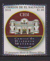 EL SALVADOR, 2018, MNH, MUSEUMS, MILITARY, 25th ANNIVERSARY OF MILITARY MUSEUM,1v - Museums
