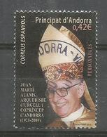 ANDORRA. Archevèque De La Seu D'Urgell, Co-prince, Un Timbre Oblitéré,1 ère Qualité - Used Stamps