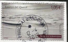 Lac Gelé Du Querol.Andorra. 2019 Andorra.un Timbre Oblitéré  ., 1 ère Qualité - Used Stamps