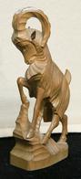 Art-antiquité_sculpture Bois_76_grand Bouquetin - Wood