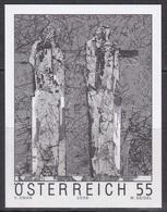 Black Print, Austria Sc2069 Painting, Homo Sapiens, Valentin Oman, Peinture - Modern