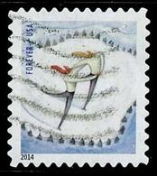 Etats-Unis / United States (Scott No.4941 - Plaisir D'hiver / Winter Fun) (o)  P4 Small ATM - Etats-Unis