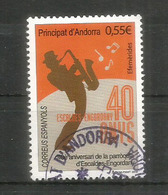 ANDORRA. Joueur De Jazz 2018,  Un Timbre Oblitéré,1 ère Qualité - Used Stamps