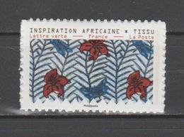 """FRANCE / 2019 / Y&T N° AA 1660A ** : """"Inspiration Africaine"""" (de Feuille Adhésive) TVP LP - Adhésifs (autocollants)"""