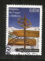 Histoire Du Ski En Andorre,  Timbre Oblitéré 1 ère Qualité, Année 2014 - Used Stamps