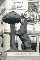 SPAIN. MAXICARD BEAR AND MADROÑO. MADRID 2019. ATM - Cartoline Maximum