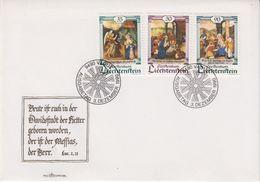 Liechtenstein 1990 Christmas / Weihnachten 3v FDC (43880) - FDC