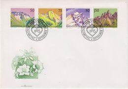 Liechtenstein 1989 Berge I 4v  FDC (43882) - FDC