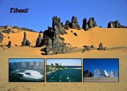 Chad Tibesti Landscape Multiview New Postcard Tschad AK - Tschad