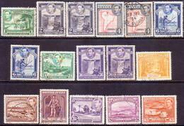 BRITISH GUIANA 1938-52 SG 308-19 Compl.set W/many Vars Used CV £65 - British Guiana (...-1966)
