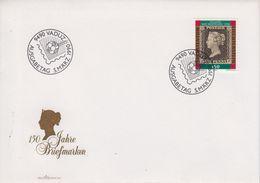 Liechtenstein 1990 150J. Briefmarken / Penny Black 1v  FDC (43884) - FDC