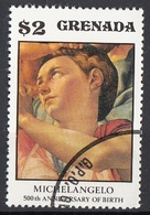 "Grenada 1975 Sc. 682 ""La Sacra Famiglia (Tondo Doni) Dettaglio"" Quadro Dipinto Michelangelo Buonarotti Paintings MNH - Grenada (1974-...)"