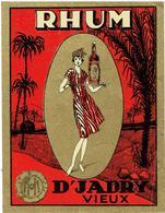 Antique Label 1930 - RHUM D' JADRY Vieux - Houssin Malisse Kuurne - 12,5 X9,5 Cm - Rhum