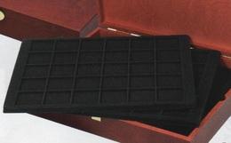 Plateau De Présentation Lindner Noir Ft 16 X 25 Cm Pour Monnaies Ou Muselets Diam. 32 Mm Neuf Sous Blister à 50% - Matériel
