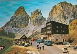 Trentino Alto Adige Dolomiti PASSO SELLA Albergo MARIA FLORA N301 Cars BUS Autocars Mercedes Anciens Fiat VW Käfer Combi - Autres Villes