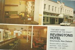 CPM, Nouvelle Zélande, N°229 , Revingtons Hotel , Tainui Street - Opposite Post Office , Greymouth Pub. Inster - Nouvelle-Zélande