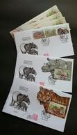 Malaysia Wildlife Conservation 2019 Tiger Rhino Wild Animals Fauna (FDC) *signed *metallic *odd Shape *unusual - Malaysia (1964-...)