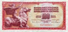 Yugoslavia 100 Dinara, P-80b (1.8.1965) - Very Fine - Jugoslawien
