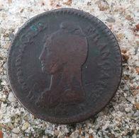 """Monnaies  France > """"Décime Dupré"""" An 5 A >refrappe Du 2 Décimes (DE Très Net Sur Le Cou Et La Tête De La République (18) - France"""