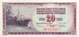 Yugoslavia 20 Dinara, P-88a (12.8.1978) - UNC - Joegoslavië