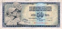 Yugoslavia 50 Dinara, P-89b (4.11.1981) - Very Fine - Jugoslawien