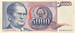 Yugoslavia 5.000 Dinara, P-93a (1.5.1985) - UNC - Jugoslawien