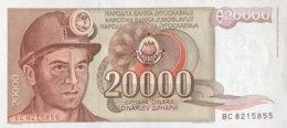 Yugoslavia 20.000 Dinara, P-95 (1.5.1987) - UNC - Jugoslawien