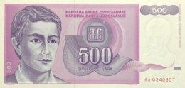 Yugoslavia 500 Dinara, P-113 (1992) - UNC - Jugoslawien