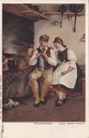 Peinture De Ludwig Blume-Siebert - Strickunterricht - Schilderijen