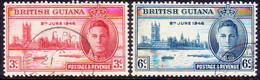 BRITISH GUIANA 1946 SG 320-21 Compl.set Used Victory - British Guiana (...-1966)