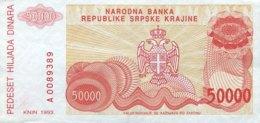 Croatia 50.000 Dinara, P-R21 (1993) - EF/XF - Croacia