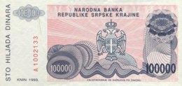 Croatia 100.000 Dinara, P-R22 (1993) - UNC - Croacia