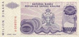 Croatia 1 Million Dinara, P-R33 (1994) - UNC - Croacia
