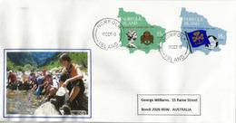 Lettre De L'île Norfolk (timbres Adhesifs Cinquantenaire Du Scoutisme Dans L'île) , Adressée En Australie - Ile Norfolk