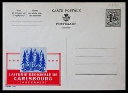 BELGIQUE ENTIER CP PUBLIBEL N° 1390. LAITERIE REGIONALE DE CARLSBOURG . NEUF - Stamped Stationery