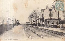 77 /  Lieusaint  :  La Gare ( Traces Rouille )      ///   REF  JUILLET .19  //   BO.77 - Altri Comuni