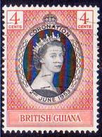 BRITISH GUIANA 1953 SG 330 4c Used Coronation - British Guiana (...-1966)