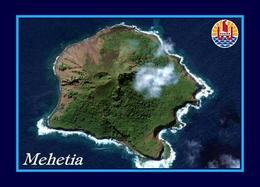 French Polynesia Mehetia Island Aerial View New Postcard - Polinesia Francese