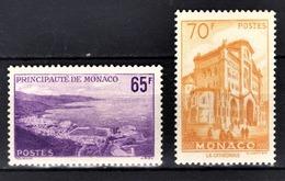 MONACO 1957 -  Y.T. SERIE N° 487 Et 488 - 2 TP NEUFS** /7 - Monaco