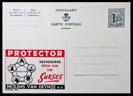 BELGIQUE ENTIER CP PUBLIBEL N° 1662. PROTECTOR VEEVOEDERS BRON VAN UW SUKSES . MOLENS VAN DEYNZE . NEUF - Stamped Stationery
